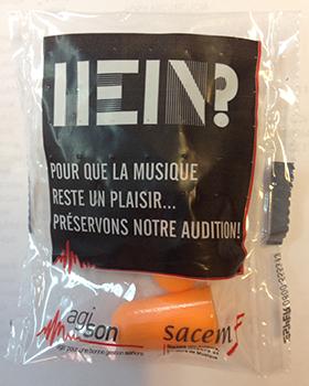 Bouchon d'oreille AgiSon